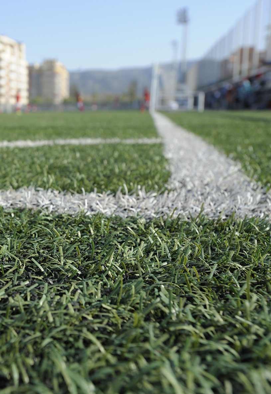 Campos de fútbol con caucho SBR